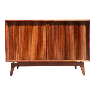 Mid-Century Modern TV Stereo Walnut Cabinet Credenza