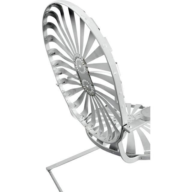 Francois Carre Vintage Sunburst Cantilevered Chairs - A Pair - Image 6 of 11