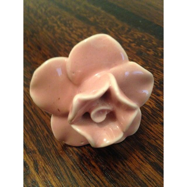 Ceramic Pink Rose Knobs - Set of 3 - Image 7 of 7