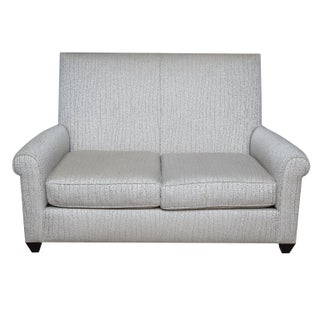 Donghia Contemporary Light Gray Upholstered Loveseat
