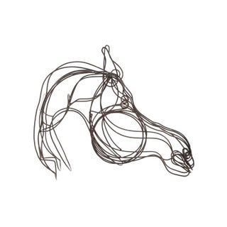 Large Modernist Wire Horse Head Sculptural