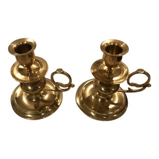 Brass Candle Holders - A Pair