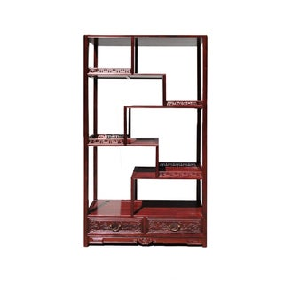 Chinese Rosewood 8 Treasure Curio Display Cabinet