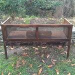 Image of Vintage Mink Velvet Hollywood Regency Cane Bench