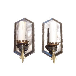 Pewter Finish Wall Sconces - A Pair