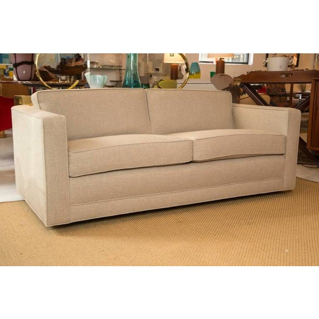 Image of Mid-Century Knoll Sofa in Custom Linen