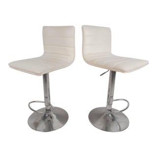 Mid-Century Modern Adjustable Bar Stools