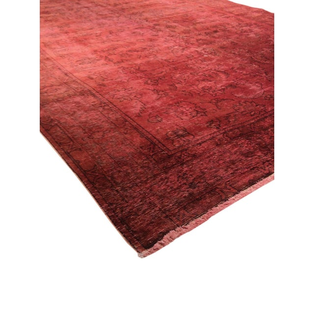 "Pink Vintage Overdyed Rug - 8' 1"" X 10' 4"" - Image 2 of 3"