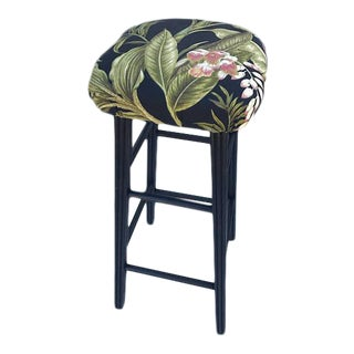 Black Floral Counter Stool