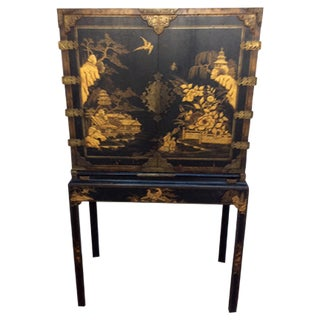 Black & Gold Chinoiserie Chest