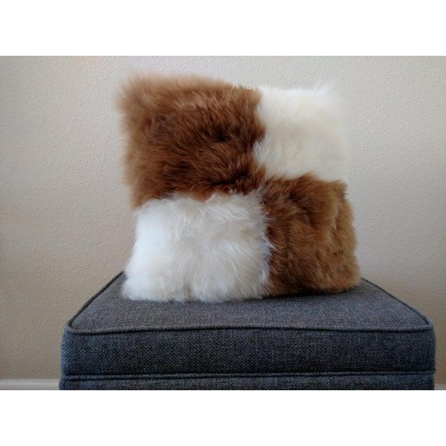 Image of Gambrell Renard Brown/White Alpaca Pillow