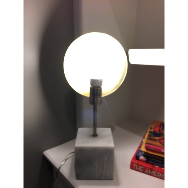 Image of Modern Marble & Metal Directional Table Lamp