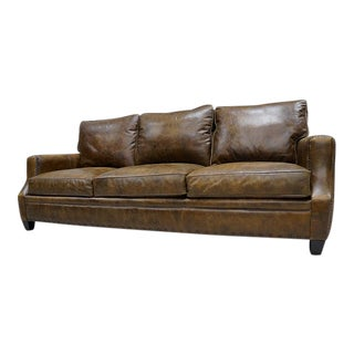 Genuine Saddle Leather Sofa