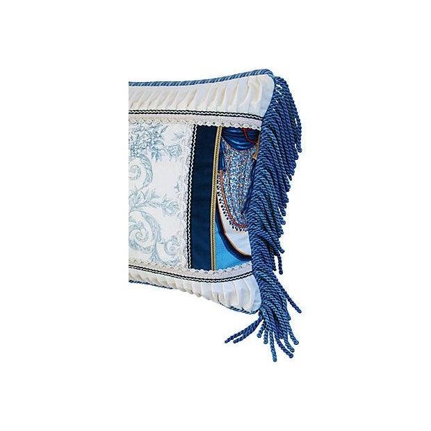 Designer Kravet Blue & White Chinoiserie Pillow - Image 2 of 6