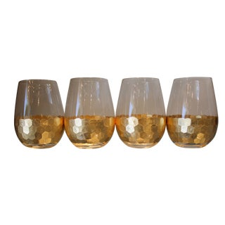 Fez Cut Stemless Wine Glasses - Set of 4