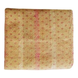 Handmade Indian Kantha Quilt