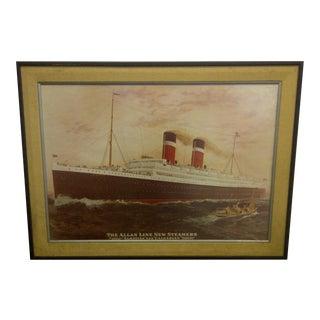 Allan Line New Steamers Print Circa 1913