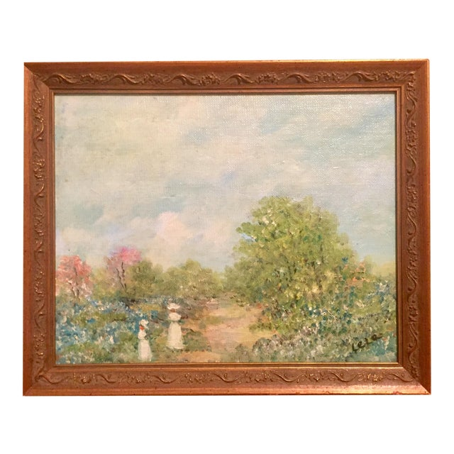 Oil Painting of Stroll in the Countryside - Image 1 of 5