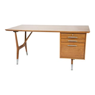 Vintage Danish Modern Walnut Desk