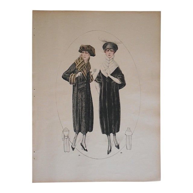 Anique 1920 french haute couture fashion print chairish for 1920 s haute couture