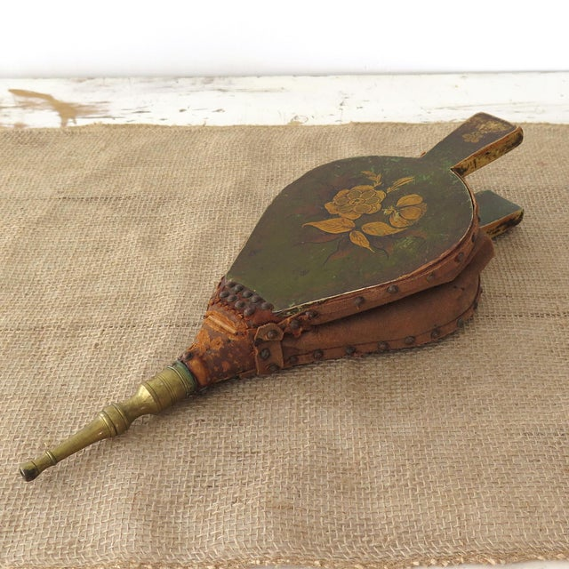 Antique Fireplace Bellows - Image 2 of 10