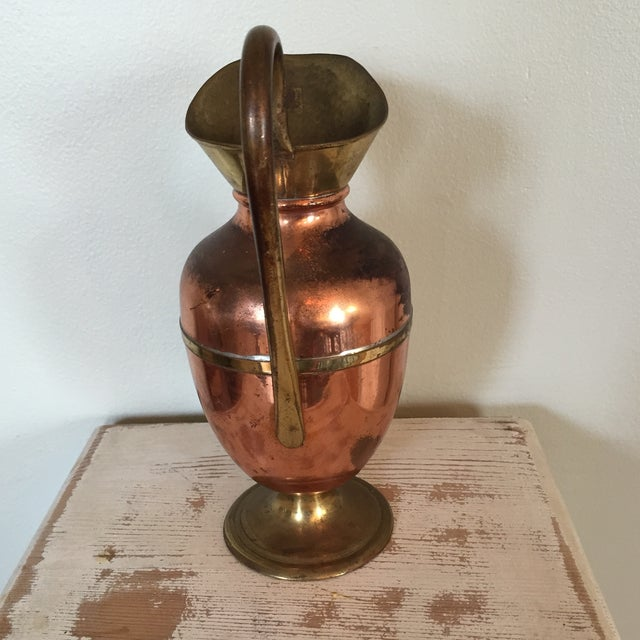 Brass and Copper Pitcher - Image 5 of 8
