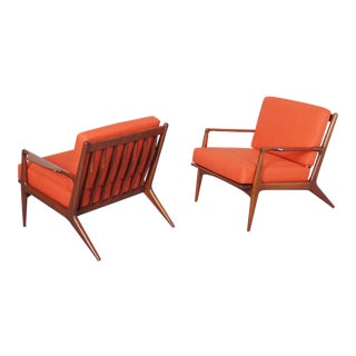 Ib Kofod Larsen Danish Lounge Chairs - a Pair