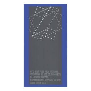 "1972 Josef Albers ""The 10th New York Film Festival"" Poster"