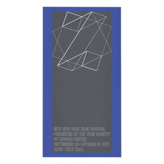"1972 Josef Albers ""The 10th New York Film Festival"" Poster"