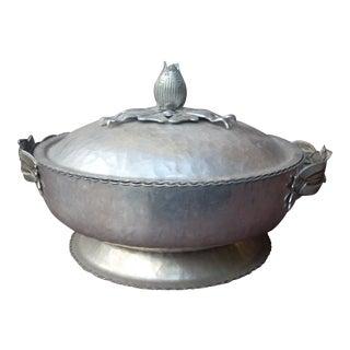 Vintage Aluminum Covered Dish