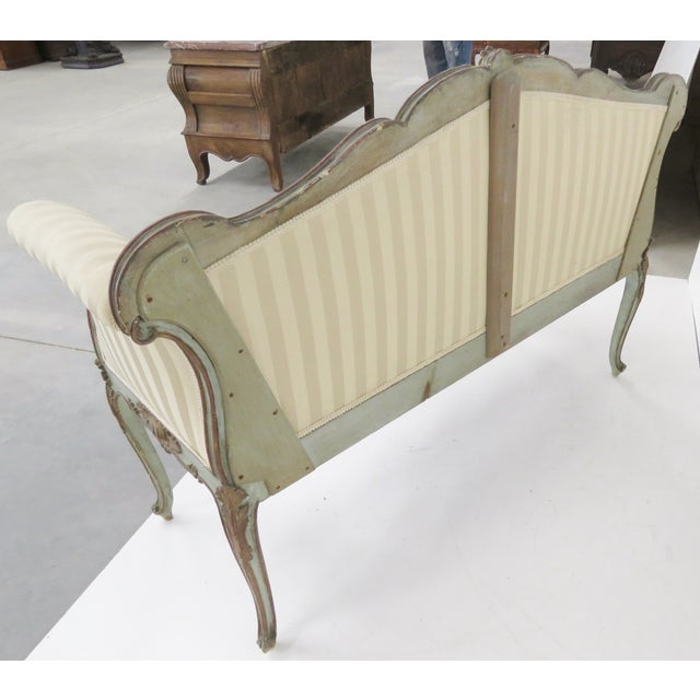 Image of French Style Louis XVI Style Painted Settee