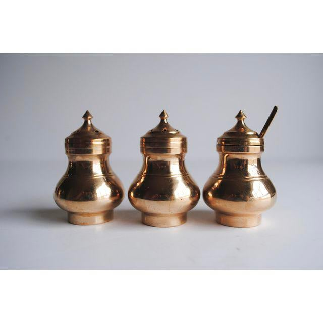 Vintage Salt & Pepper Shakers and Mustard Jar - Image 2 of 4