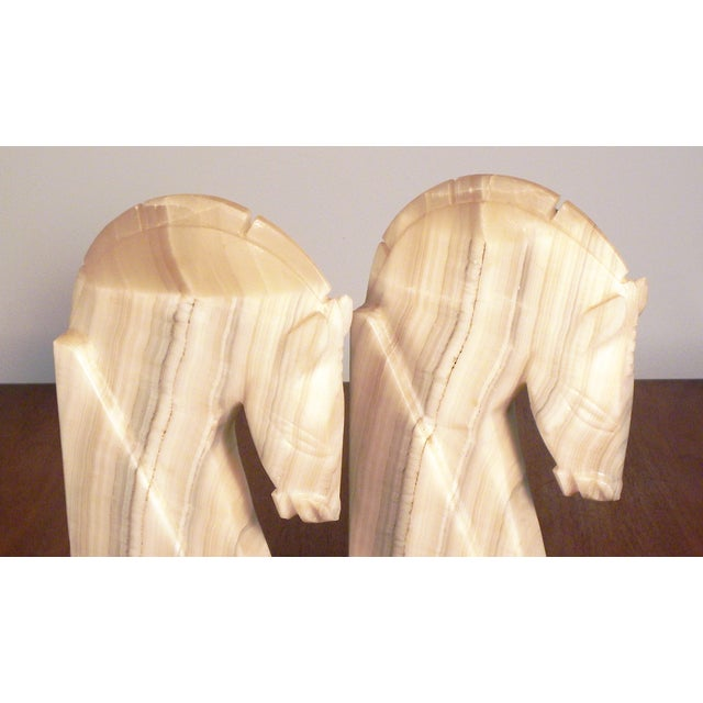 Vintage Large Horse Head Agate Bookends - Set of 2 - Image 6 of 6
