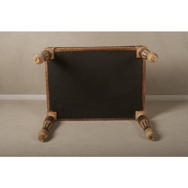 Louis XVI Style Leather Seat Ottomans - A Pair - Image 7 of 7