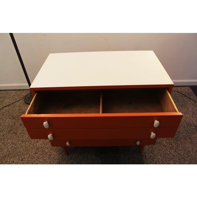 Atomic Orange Laminate Dresser - Image 9 of 11