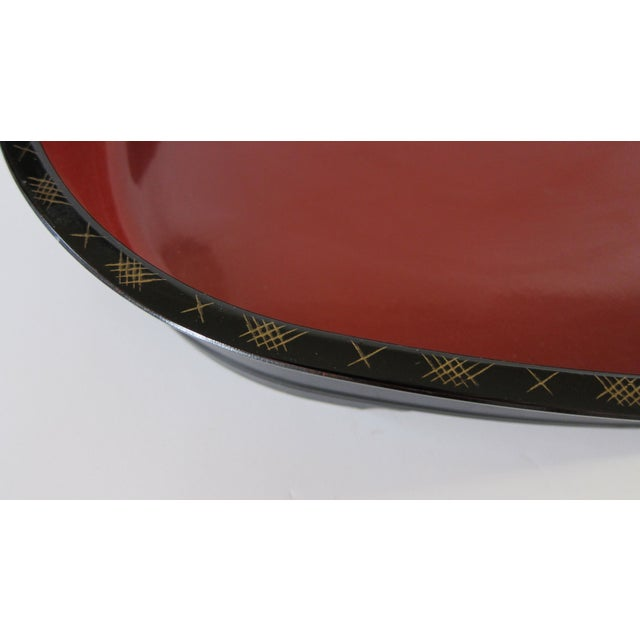 Japanese Lacquer Serving Tray - Image 5 of 6