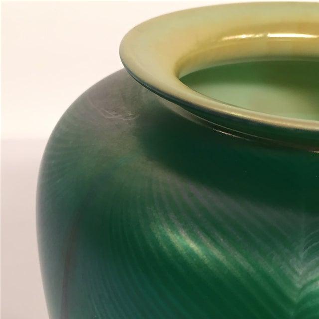 Richard Satava Green Art Glass Vase, C. 1979 - Image 9 of 9