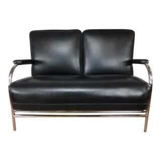 KEM Weber Art Deco Chromed Loveseat