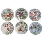 Image of Antique French Majolica Fruit Plates - Set of 6