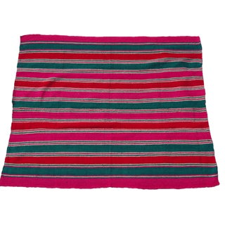 "Peruvian Wool Frazada Throw -- 5'1"" x 6'"