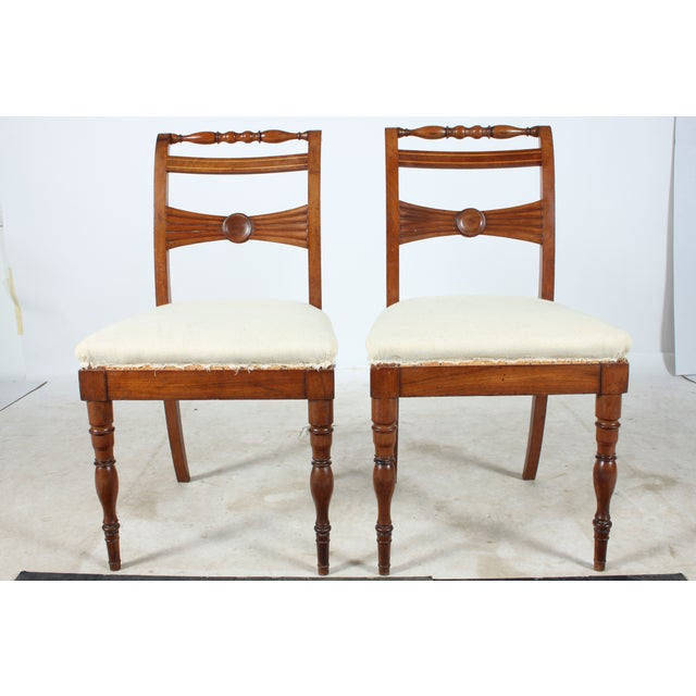 English Regency-Style Hall Chairs - A Pair - Image 2 of 4