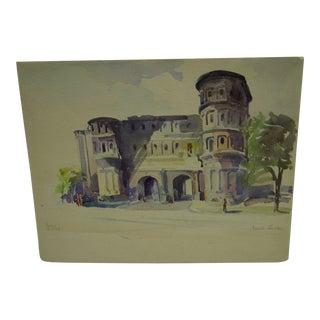 """Port-A-Negri"" Original Painting On Paper"