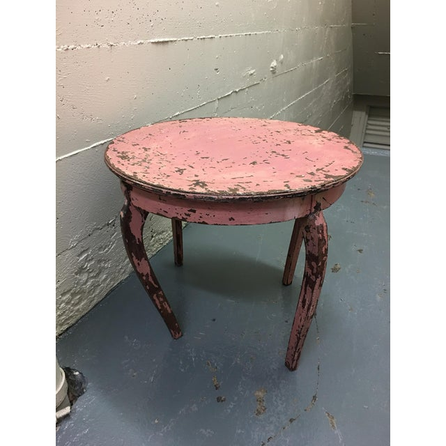 Vintage Pink End Table - Image 3 of 3