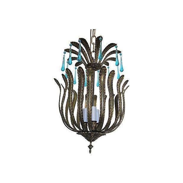 1960s Brass Acanthus Lantern - Image 3 of 6