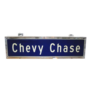 Chevy Chase Subway Sign