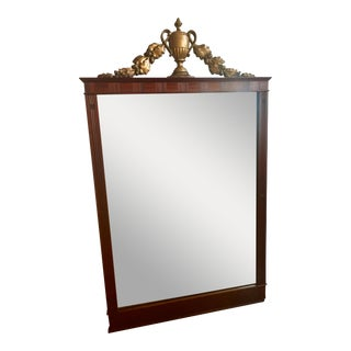 Vintage Federal Mahogany Partial Gilt Mirror