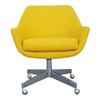 Vintage Mustard Tweed Office Chair