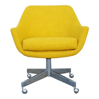 Vintage Mustard Tweed Office Chair