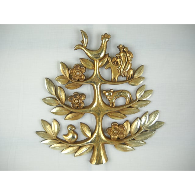 "Syroco Vintage ""Tree of Life"" Plaque - Image 4 of 8"