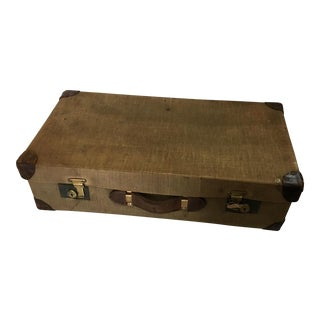 Vintage English Canvas Suitcase
